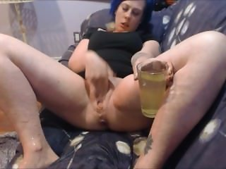 Fingering Dripping Wet Pussy and Piss in a Cup