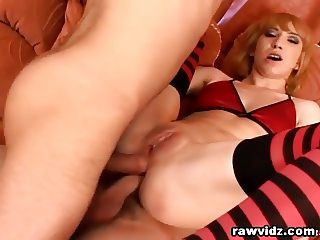 Petite Girl Gets Gaped Rough Double Anal Penetration