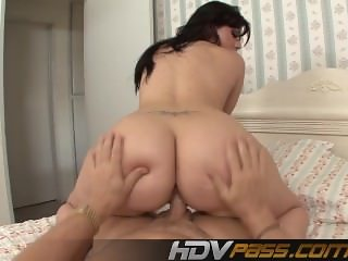 Brunette Rose fucking with big Ass