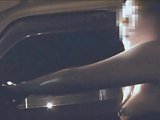 Nao flashing at gas station of highway road