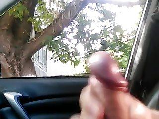 Public dick car flash with cum 7 - She looks