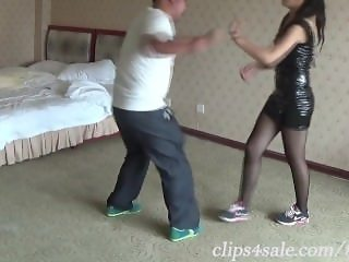 Chinese girl ballbusting Martial arts neckbreak