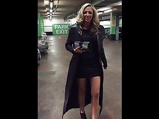 Long Leather Coat Walk