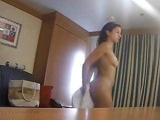 Sexy Babe Caught Nude In Her Room