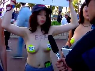 feminist Bitches strip and Fuck Obese men