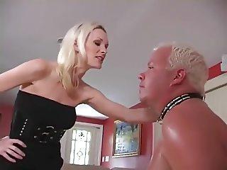Old cuck slave had to lick cum
