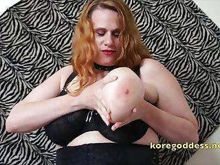 Big Boobs wife wearing stockings and corset