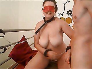 Amateur big boobs couple slave