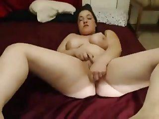 Very Horny Chubby Teen spreading and cumming
