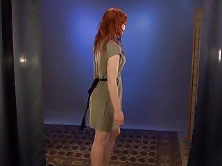 Redhead posing