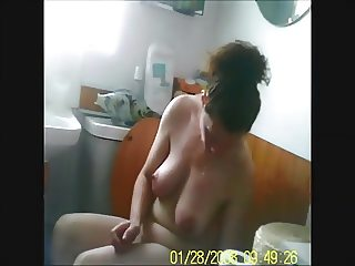 Mature wife leg shaving