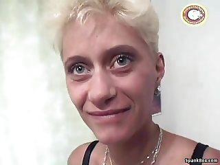 Mature gets dildoed before facial cumshot
