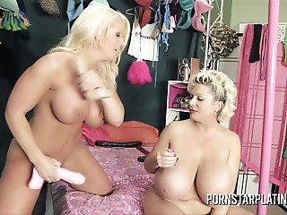 Alura Jenson bangs the HUGE Tits of Claudia Marie