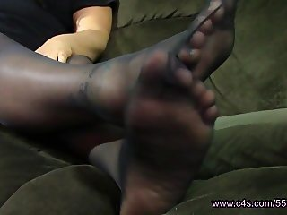 Melissa Hansen Pantyhose Foot Play