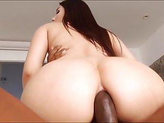 Big Butt Brunette BBC anal