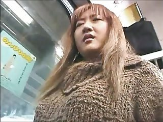 Asian Girl groped on a train