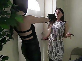 stocking masked robber
