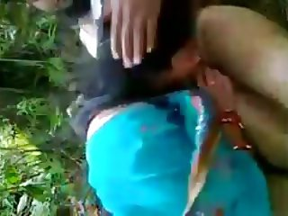 Kasmiri couple in outdoor fun