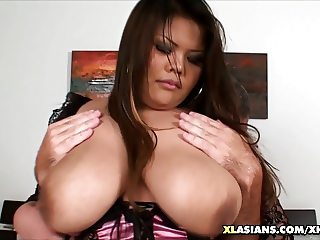 Thai BBW Body and Boob Grope