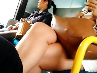 Sexy thick thighs and legs hidden spy cam