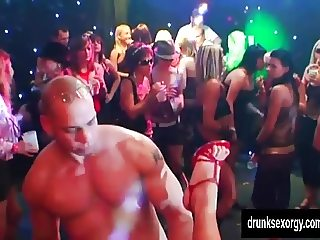 Bi pornstars fuck in a club