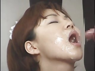 Massive Asian Bukkake with Swap and Swallow 5