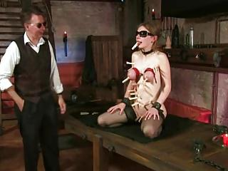 BDSM with tit torture and fisting