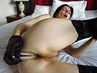 Polish MILF Ola - silver dildo - anal masturbation