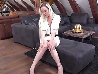 White dress sexy feet