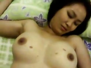 indonesian girl gets thick cock into her tight pussy