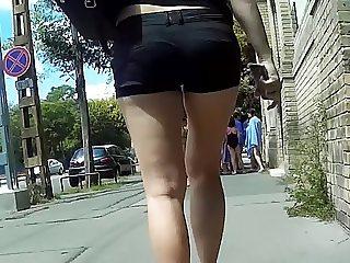candid long legs in high heels