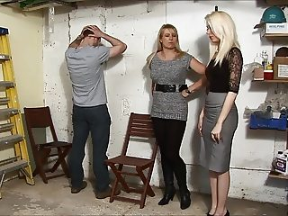 Nice Mistresses  Give a Spanking in the garage(part 1)
