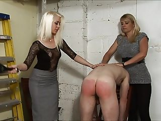 Nice Mistresses Give a Spanking in the garage(part 2)