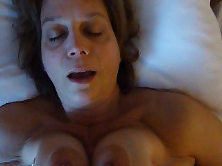 Cumshot boob fuck
