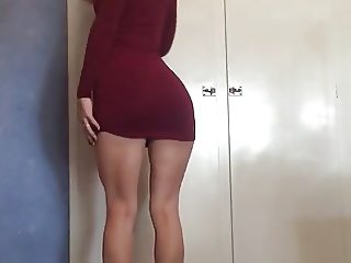 Tight dress and heels