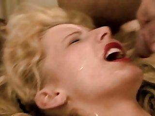 Monika taking blasts of cum to the face