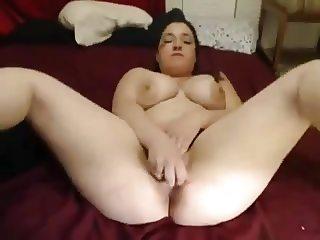 Very Horny Slut Chubby Teen orgasming on cam