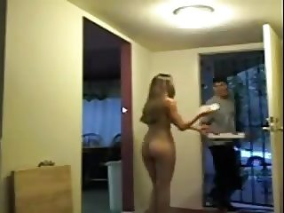 Nude for pizza boy but he refuses sex PublicFlashing.me