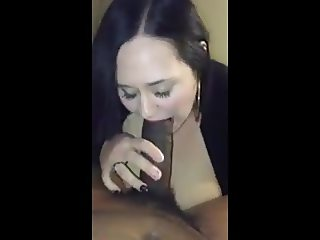BBW Using Her Big Titties And Mouth To Conquer BBC