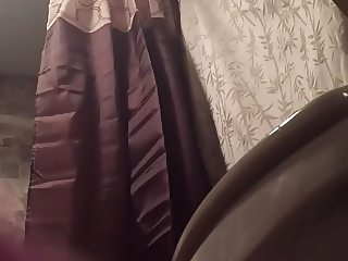 Milf toilet spy