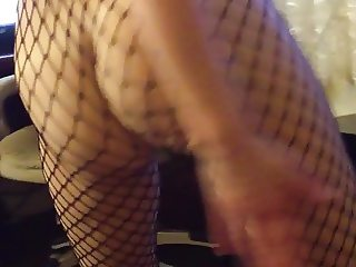 ass in fishnet dance