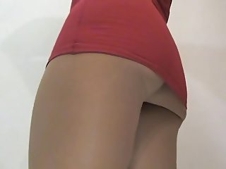 crossdresser pantyhose upskirt 045