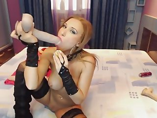Sexy girl, latex and anal