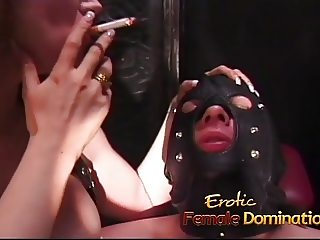 Raunchy stallion has some fun in the dungeon with two sluts