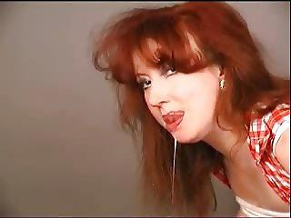 Red Blowjob Bound Bitch