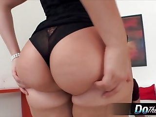 Pretty wife Katy swallows cum