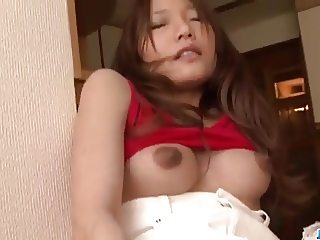 Serious pussy play along lingerie model Aoi Yuuki