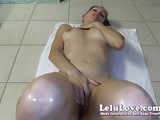 Lelu Love-Rubbing Cum And Oil On My Naked Body