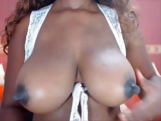 Real natural black & ebony colombian tits