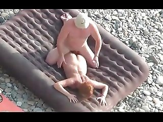 Beach couple fuck